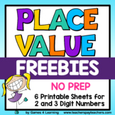 Free Place Value Worksheets and Cut and Paste
