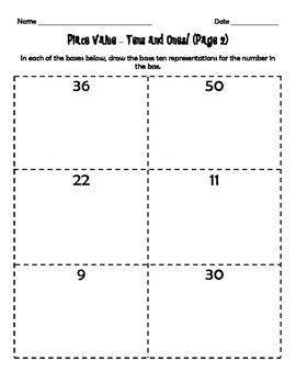 Place Value Freebie - Ones and Tens