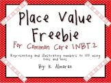 Place Value Freebie for Common Core 1.NBT.2