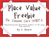 Place Value Freebie for Common Core 1.NBT.2