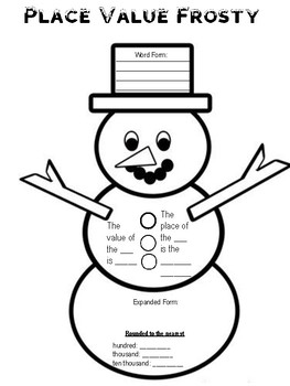 Place Value Frosty the Snowman