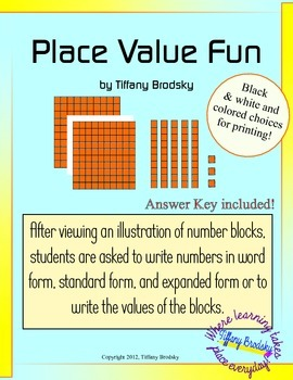 Place Value Fun Hundreds Tens and Ones Expanded, Standard,