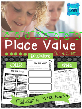 Place Value Fun and Games *Editable