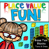 Place Value Fun - base ten blocks (tens and ones) #springintosavings