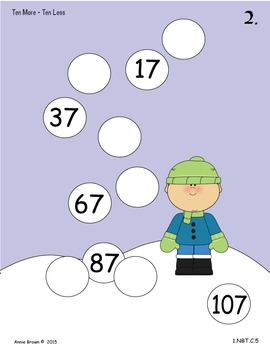 Place Value - Fun n' Flurry with Ten More-Ten Less
