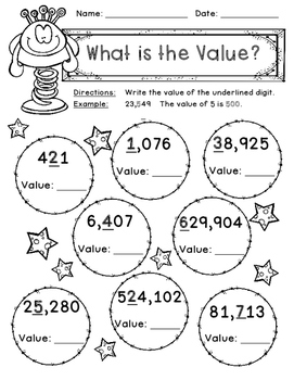 Place Value Game, Worksheets, Book Making Activity, Anchor Chart
