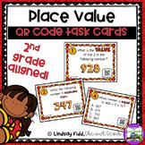 Second Grade Place Value:  QR Task Cards Set 1