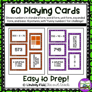 Second Grade Place Value:  Matching Games BUNDLE