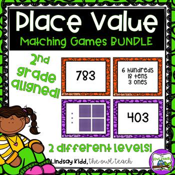 3 Digit Place Value:  {Matching Games BUNDLE}