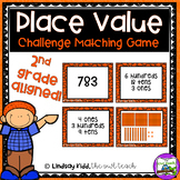 Second Grade Place Value Game:  Challenge Match Game