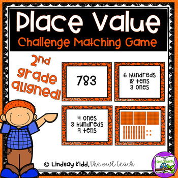 3 Digit Place Value:  {Matching Challenge Game}