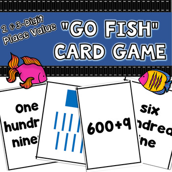 """Place Value Game: """"2 and 3 Digit Go Fish"""""""