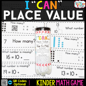 Kindergarten Math Game for Place Value - Kindergarten Math