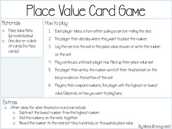 Place Value Game