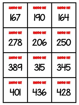 Place Value Game - 3-digits - For Centers, Small Groups and Interventions