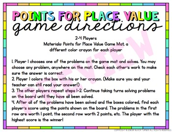 Place Value Game: 4th Grade Math Centers 4.NBT.1