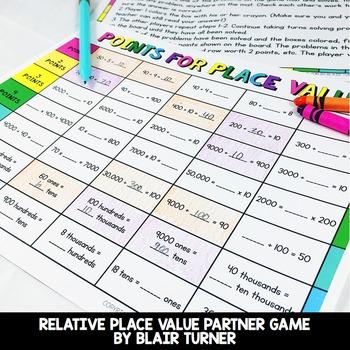 Place Value Game: 4th Grade Math Centers 4.NBT.1