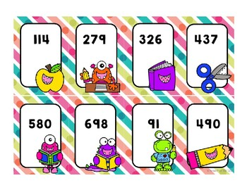 Place Value Game - Back to School Battle