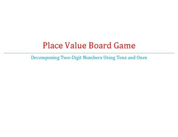 Place Value Game Board - Tens and Ones