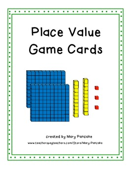 Place Value Game Cards