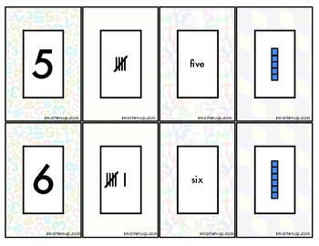Place Value Game Cards, Numbers to 10
