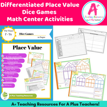 Place Value Game - Differentiated & AC Linked F-Y6