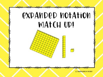 Place Value Game {Expanded Notation & Base Ten Block Match}