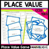 Place Value Game: Expanded Notation, Standard Form, Word Form, Expanded Form
