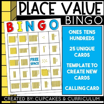 Place Value Game - Hundreds Tens and Ones Base Ten Block Review