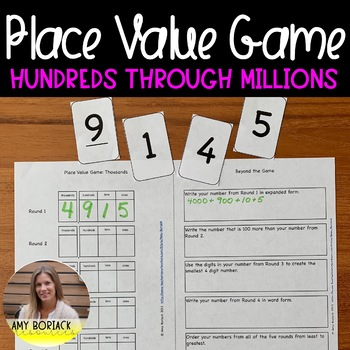 Place Value Game: Hundreds through Millions