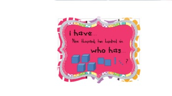 "Place Value Game ""I have...Who Has?"""