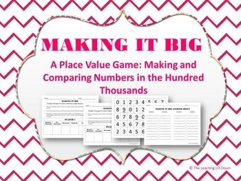 Place Value Game: Making and Comparing Numbers
