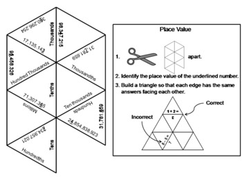 Place Value Game: Math Tarsia Puzzle