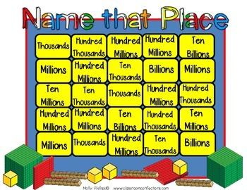 Place Value Game: Math Game for 4th Grade (possibly 3rd & 5th)