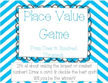 Place Value Game - Ones to Hundred Thousands