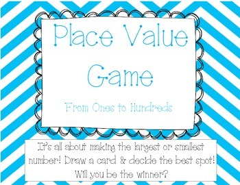Place Value Game - Ones to Hundreds