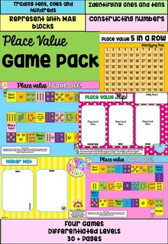 Place Value Game Package