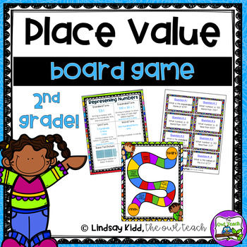 second grade place value board game by the owl teach tpt