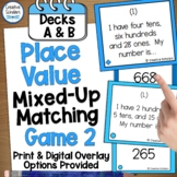 Place Value Game Printable Distance Learning   Game Two