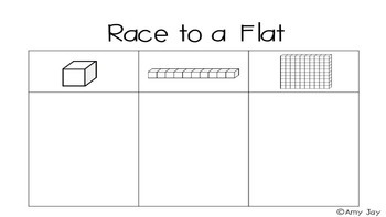 Place Value Game: Race to a Flat