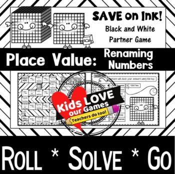 Place Value Game: Renaming Numbers: 4th - 5th Grade Math Game