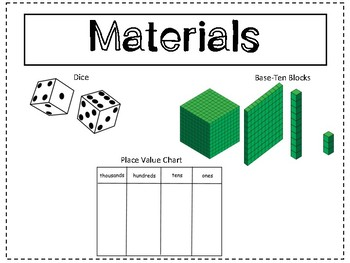 Place Value Game: Roll to Zero