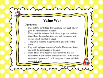 Place Value Game Set