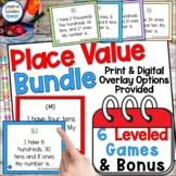Place Value Game Set Bundle and Bonus   Printable Distance