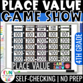 Place Value Game Show | Digital Game | Test Prep Math Review Game (4th Grade)