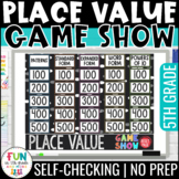 Place Value Game Show Review | 5th Grade | Digital Test Prep Math Review Game