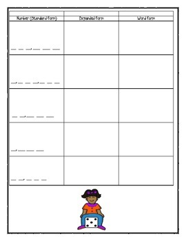 Place Value Game: Standard, Expanded and Word Forms