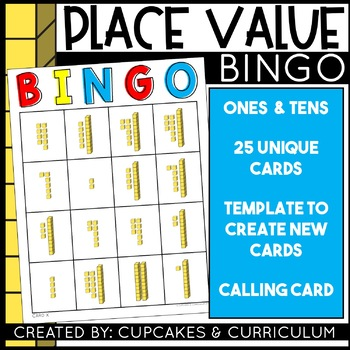 Place Value Game - Tens and Ones Base Ten Block Review by Cupcakes n ...