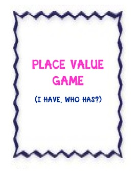 Place Value Game Through the Thousands Place