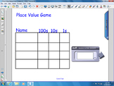 Place Value Game to 999 Interactive White Board